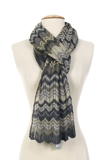 bohemia echarpes et gants femme de couleur gris