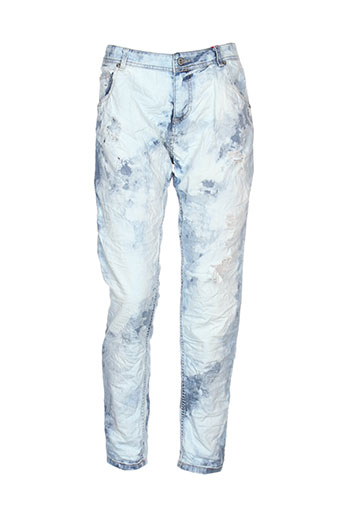 johanna paris pantalons femme de couleur bleu