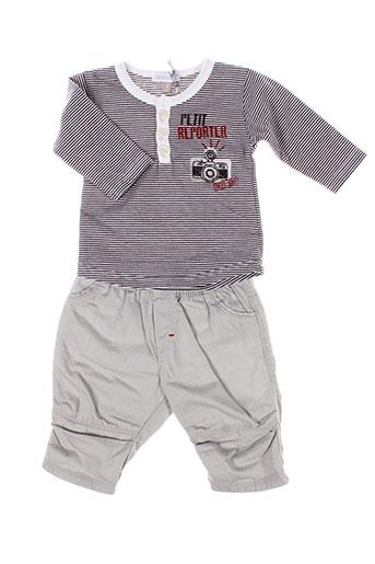 absorba t et shirt et pantalon garcon de couleur gris