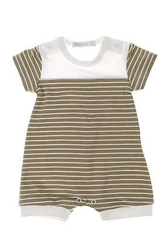absorba combi et shorts enfant de couleur beige (photo)