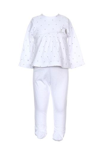 absorba pyjamas et 1 fille de couleur blanc (photo)