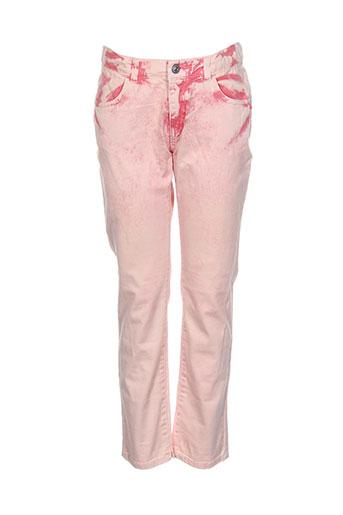 confetti pantalons et decontractes fille de couleur rose