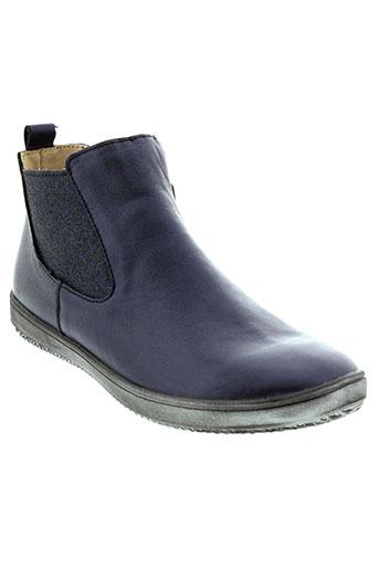 achile boots fille de couleur bleu