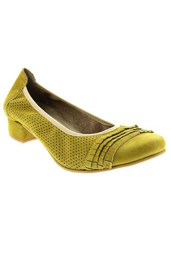santafe chaussures femme de couleur jaune
