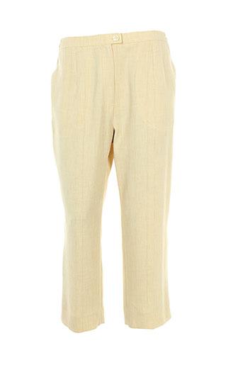 coutureine pantacourts femme de couleur jaune