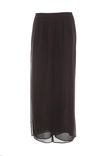 doucel pantalons femme de couleur marron