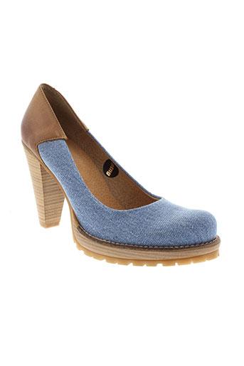 mtng escarpins femme de couleur bleu