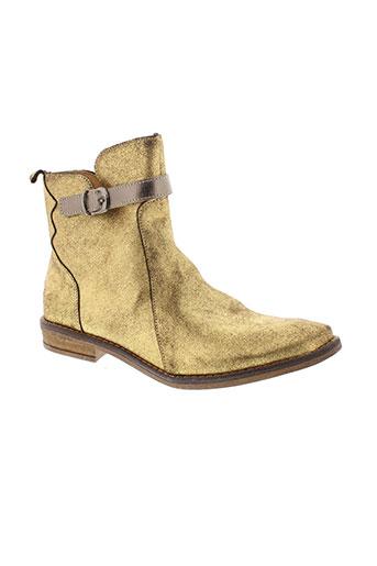 minibel boots femme de couleur jaune