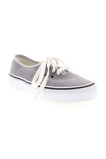 vans chaussures enfant de couleur gris