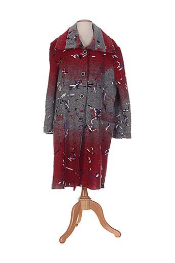 impulsion manteaux femme de couleur rouge