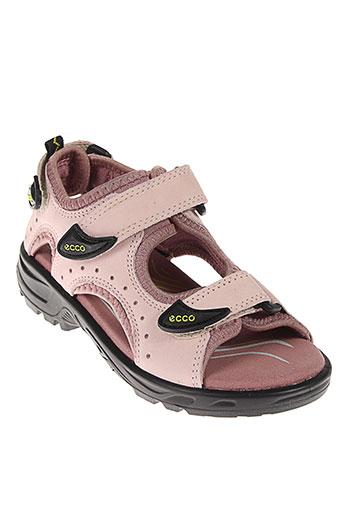 ecco sandales et nu et pieds fille de couleur rose