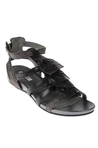 fugitive et by et francesco et rossi sandales et nu et pieds femme de couleur noir