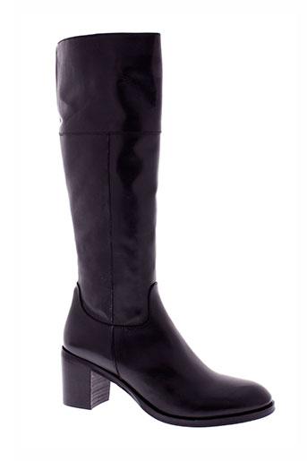 emanuele et crasto bottes femme de couleur noir