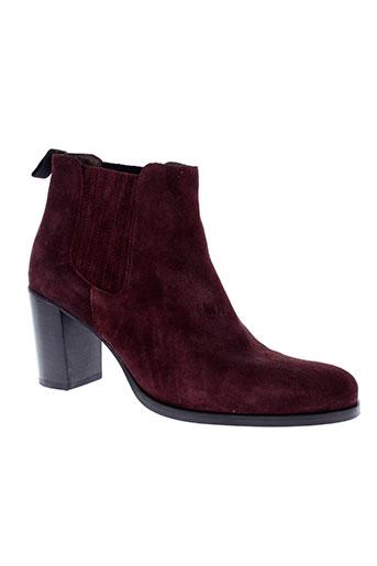 muratti boots femme de couleur rouge