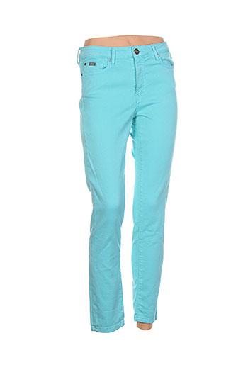 islow jeans femme de couleur bleu
