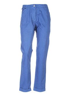 Pantalon chic bleu THALASSA pour femme