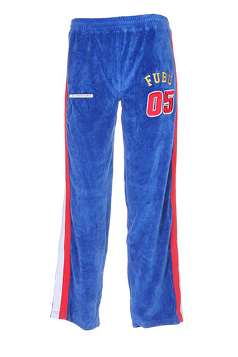 fubu pantalons homme de couleur bleu