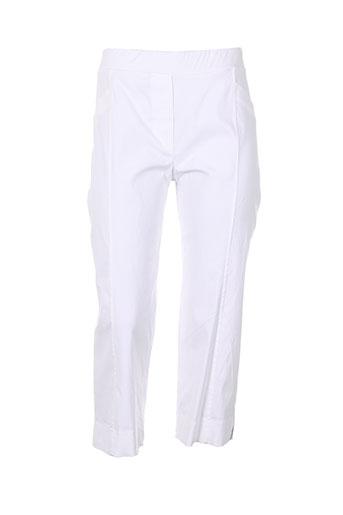 halogene pantacourts et decontractes femme de couleur blanc