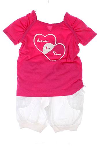 bulle et de et bb t et shirt et pantalon fille de couleur rose
