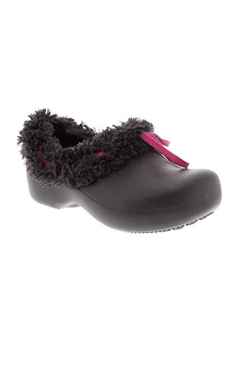 crocs chaussures fille de couleur noir
