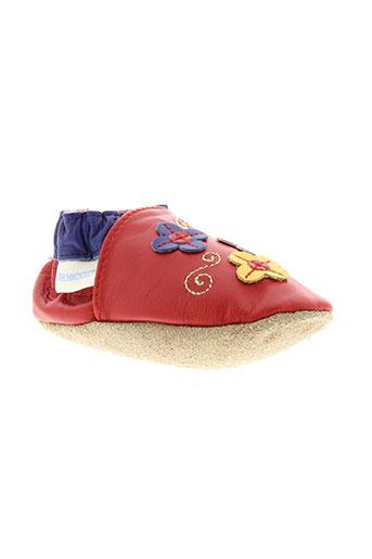 robeez chaussures fille de couleur rouge