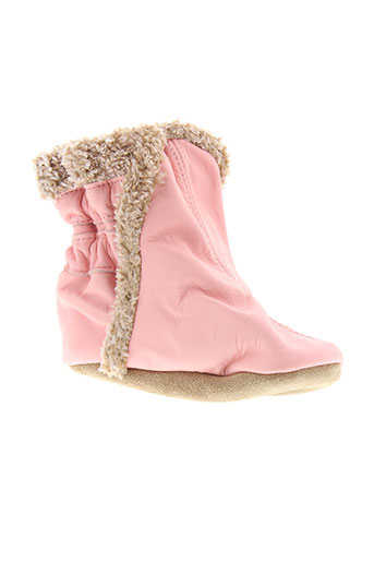 robeez chaussons fille de couleur rose