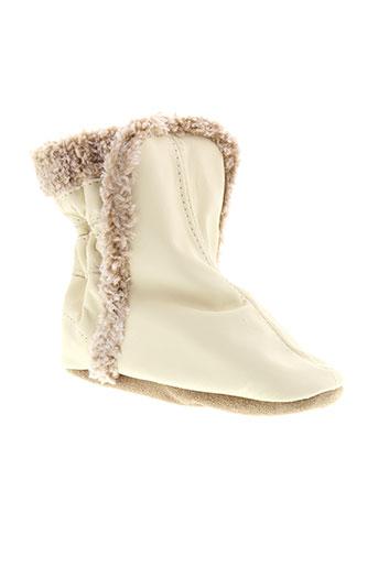 robeez chaussures fille de couleur beige