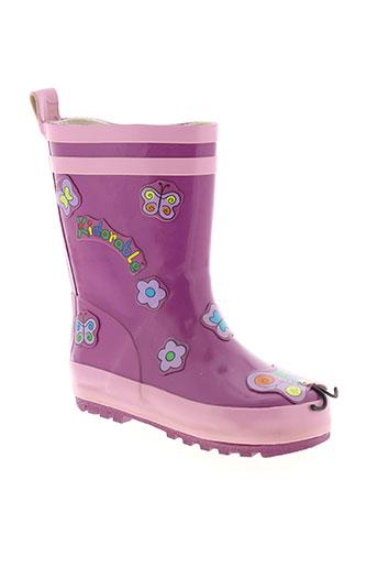 kidorable chaussures fille de couleur violet