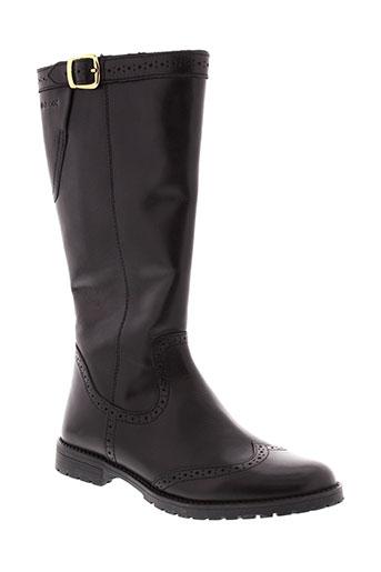 geox boots fille de couleur noir