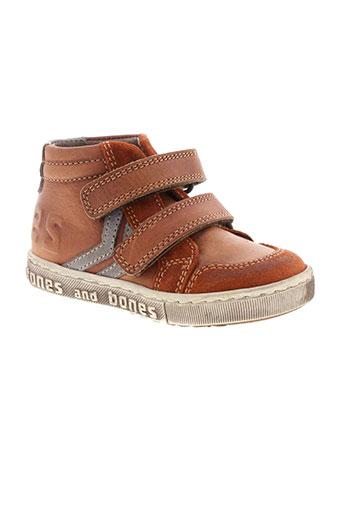 stones and bones chaussures garçon de couleur marron