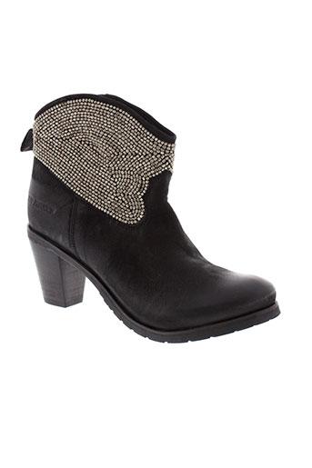 ilario et ferucci boots femme de couleur noir