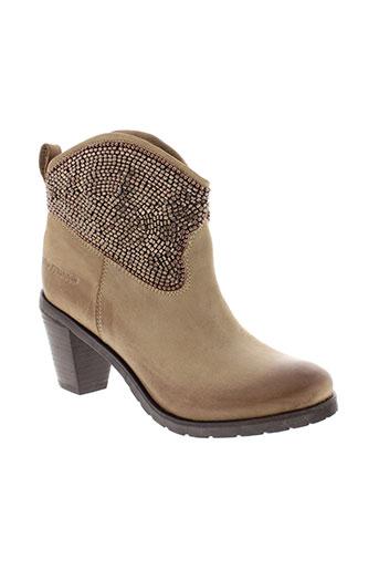 ilario et ferucci boots femme de couleur marron