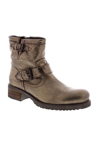 cafe et noir boots femme de couleur marron