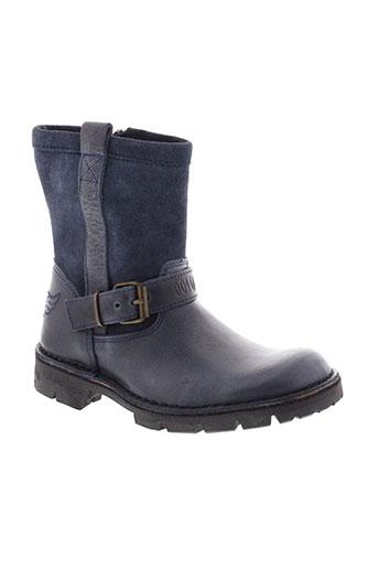 ikks boots fille de couleur bleu