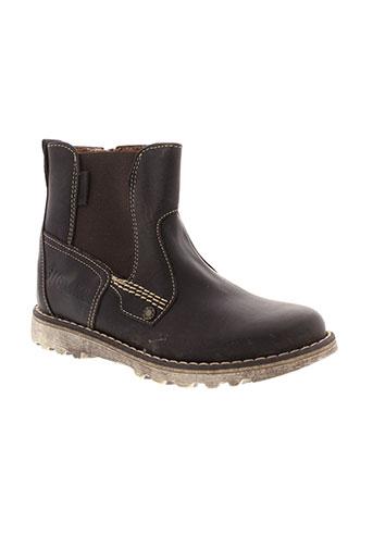 ikks boots garcon de couleur marron