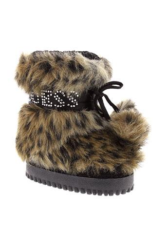 guess chaussures fille de couleur marron