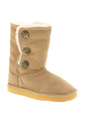 guess chaussures fille de couleur beige