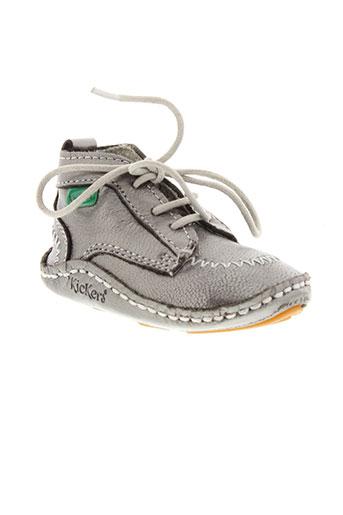 kickers chaussons garcon de couleur gris
