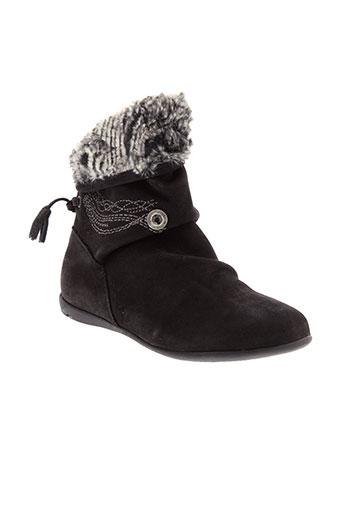 catimini boots fille de couleur noir