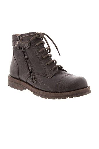 pom et d et api boots garcon de couleur marron
