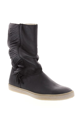 ramdam boots fille de couleur noir