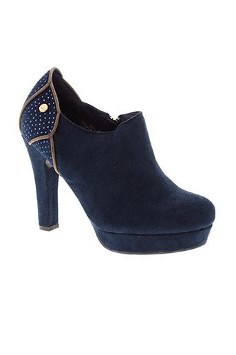 xti chaussures femme de couleur bleu