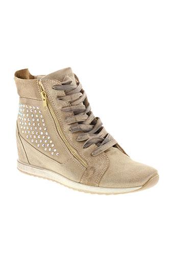 cafe noir chaussures femme de couleur beige