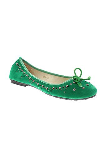 coco et perla ballerines femme de couleur vert