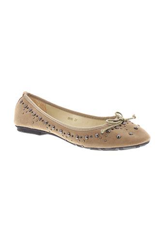 coco perla chaussures femme de couleur beige