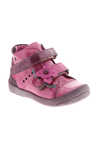 babybotte bottillons fille de couleur rose