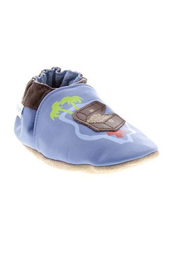 robeez chaussons garcon de couleur bleu