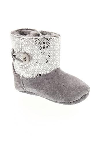 guess boots fille de couleur gris