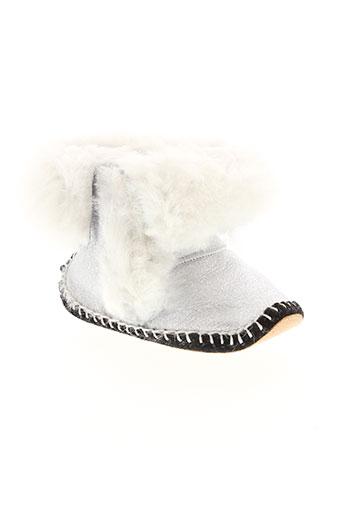 baby et chick chaussons fille de couleur gris