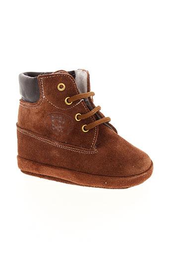 baby et chick chaussons garcon de couleur marron